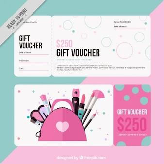 Vale regalo para cosméticos