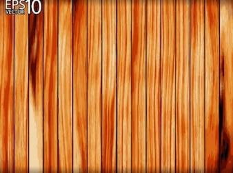 Valla de madera con clavos doblados en barras