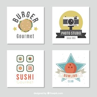 Varias tarjetas con diferentes temáticas