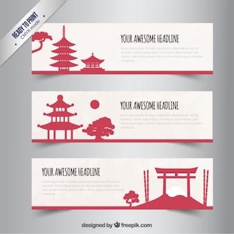 Variedad de Banners japoneses