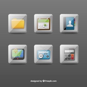Variedad de botones de aplicaciones