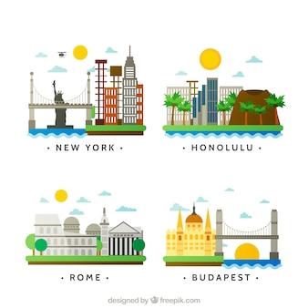 Variedad de ciudades internacionales
