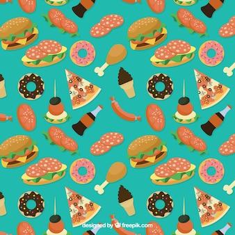 Variedad de comida deliciosa