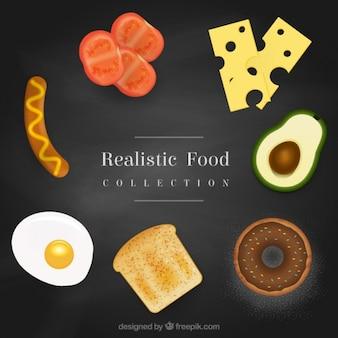 Variedad de comida realista