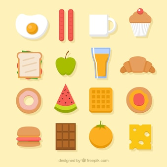 Variedad de comida sabrosa