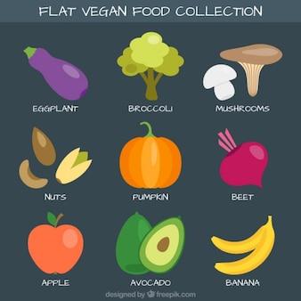 Variedad de comida saludable