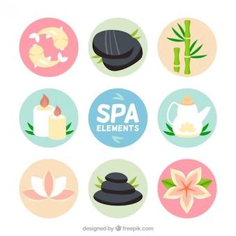 Variedad de elementos de spa