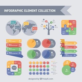 Variedad de elementos útiles para infografías