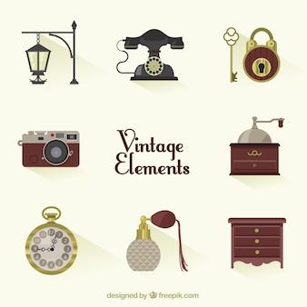 Variedad de elementos vintage