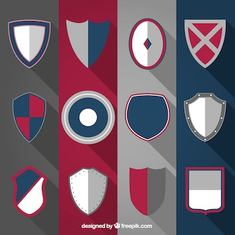 Variedad de escudos medievales