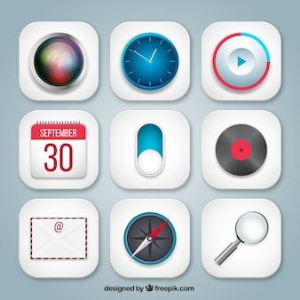 Variedad de iconos de aplicaciones