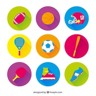 Variedad de iconos de deporte