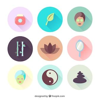Variedad de iconos de spa