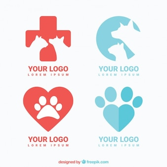 Variedad de logos de veterinario