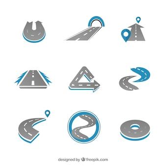 Variedad de logotipos carretera