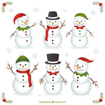 Variedad de muñecos de nieve divertidos