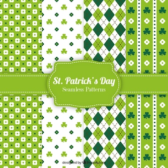 Variedad de patrones del día de San Patrick