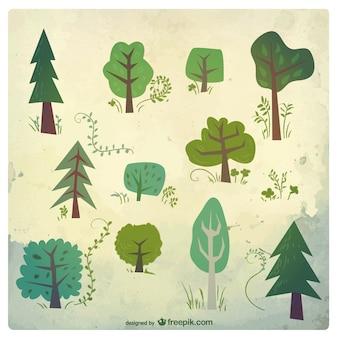 Variedad de árboles
