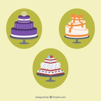 Variedad de tartas deliciosas