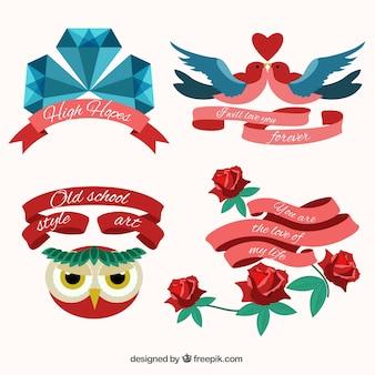 Variedad de tatuajes con cintas