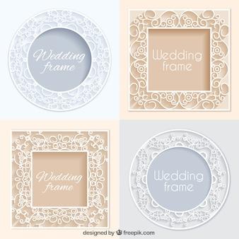 Varios marcos ornamentales de boda