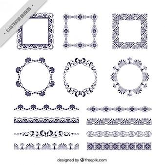 Varios marcos victorianos y bordes