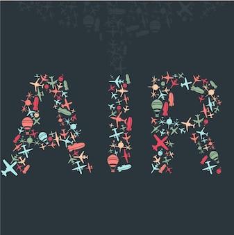 Vector, Aire, cielo, patrón, aviones, Conjunto