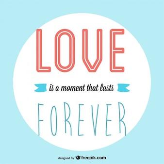Vector amor para siempre