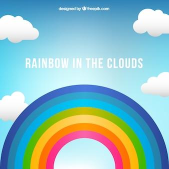 Vector arcoíris en el cielo