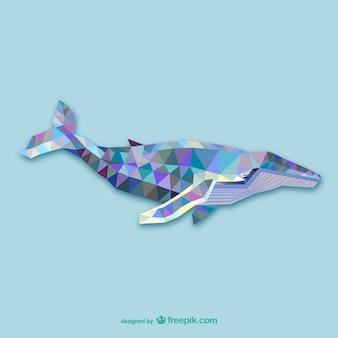 Vector ballena poligonal