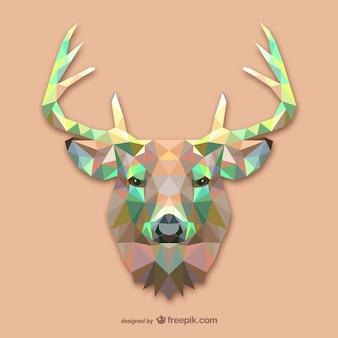 Vector cabeza de ciervo