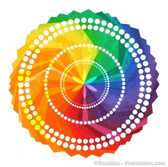 Vector colorido círculo decorativo