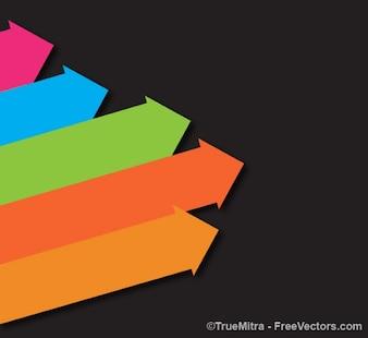 Vector colorido flechas vendimia