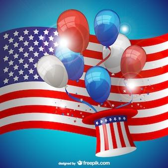Vector con bandera para el Día de la Independencia
