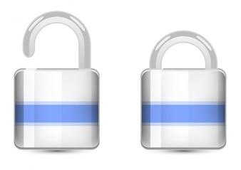 Vector conjunto de iconos de color. Icono del candado