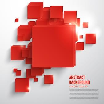 Vector cuadrado. Tarjeta de fondo abstracto rojo.