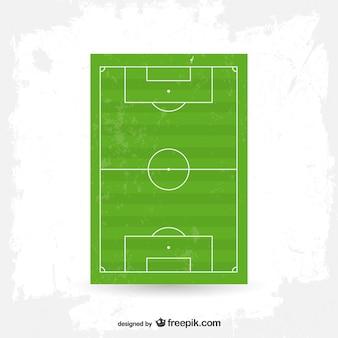 Vector de campo de fútbol en vertical