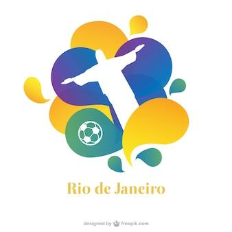 Vector de cartel de fútbol en Río de Janeiro