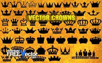 Vector de coronas