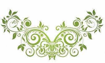 vector de elemento de diseño floral del remolino