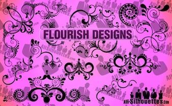 Vector de florecer diseños