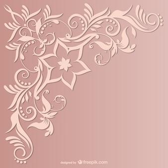 Vector de fondo con ornamentos florales