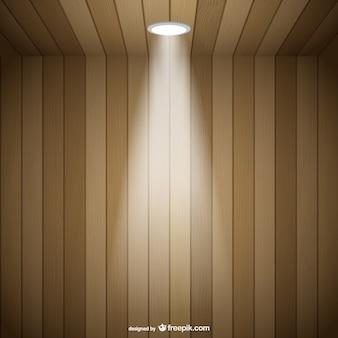 Vector de habitación de madera tridimensional