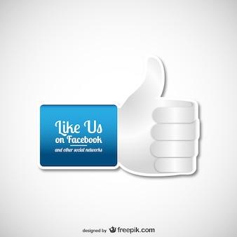 Vector de hazte fan en Facebook