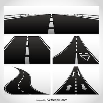 vector de la carretera