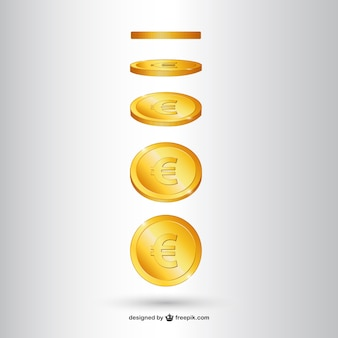 Vector de moneda de oro