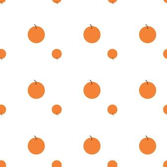 Vector de patrón de fruta naranja