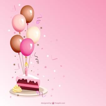 Vector de porción de tarta de cumpleaños