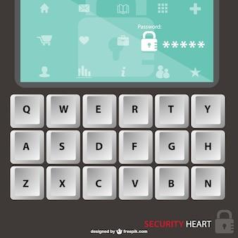 Vector de seguridad con teclado
