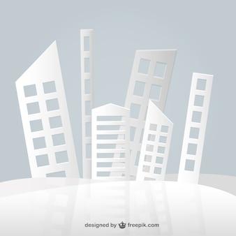 Vector edificios de papel